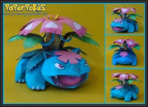 Pokemon-M-Venusaur-Papercraft